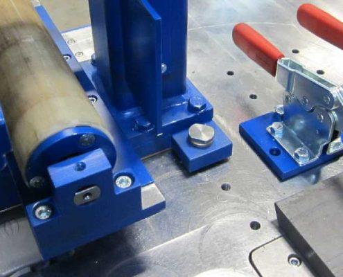 Bandschleifmaschine zum Kanten und Fasen mit Zusatzeinheit zum Bearbeiten von Rohren (KF V-500 R) Schweißnaht Vorbereitung Rohrbearbeitung