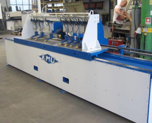Bandschleifmaschine zum Kanten und Fasen mit demontierbarem Spannportal (KF V-2000) Schweißnaht Vorbereitung