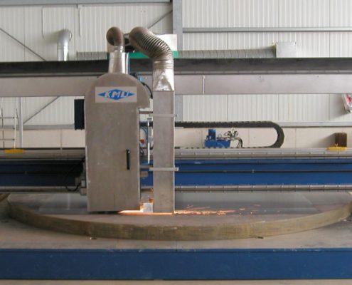 Portalbandschleifmaschine zum Bearbeiten von Blechtafeln (BSM-S 3000) Flächenbearbeitung