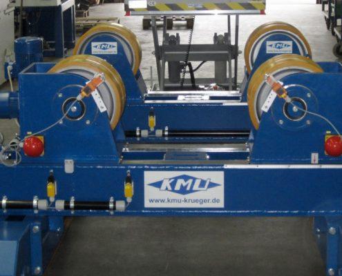 Drehvorrichtung mit höhenverstellbarem Zusatzbock zur Aufnahme von zylindrischen abgesetzten Elektroden (DV-30 S) Rohrbearbeitung