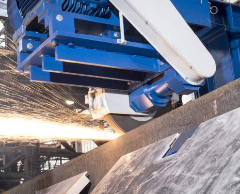 Steinschleifanlage zum Bearbeiten von Brammen / Pins (BSA-260/700/10600) Walzwerktechnik