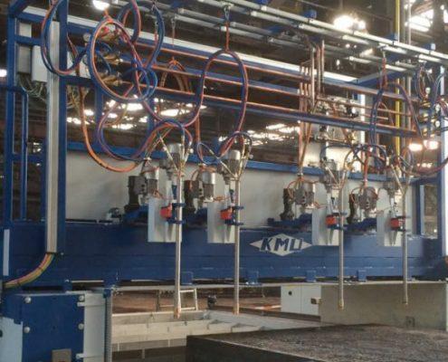 Brennschneidanlage in Portalausführung zum Bearbeiten von Mutter-Brammen mit Doppelbrennbett (BTA 1-4-II) Walzwerktechnik