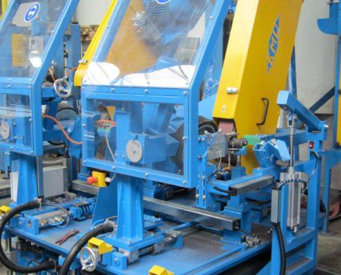 Bandschleifmaschine mit Doppelkopf zur Bearbeitung von Rohraußenseiten (BSDK-100x3500) Rohrbearbeitung
