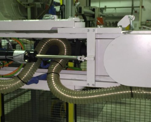 Belt grinding machine with turning device for processing surfaces and weld seams within containers through a manhole (BISM-ML-5K)