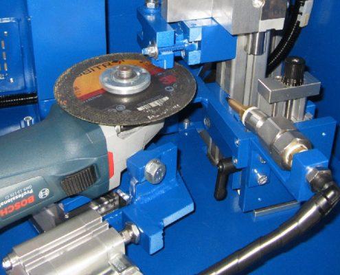 Halbautomatische Trennanlage zum Ablängen von Distanzen für die Sprengplattierung (TAD-125) Rohrbearbeitung