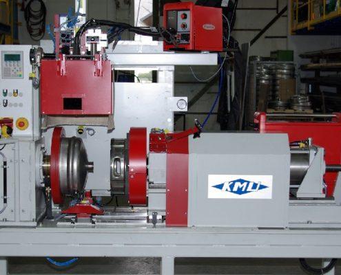 Schweißmaschine zum Verschweißen der Kopf und Fußringe an Fasshälften (MIG-Z-B-SM) KEG - Fertigung