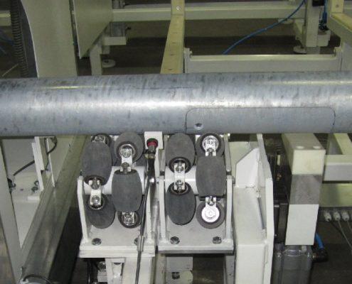 Bandschleifmaschine zum Bearbeiten von Mantelflächen an konischen und abgesetzten zylindrischen Rohren (Lichtmasten) (RSM-A 250) Rohrbearbeitung