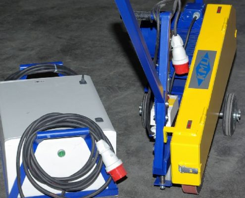 Fahrbarer Bandschleifer (MFBS) Schweißnaht Nachbearbeitung Rohrbearbeitung Handgeführte Maschinen