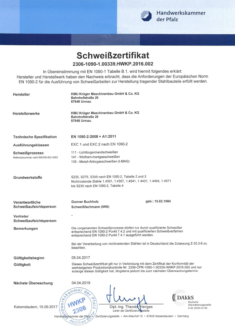 Schweißzertifikat-DIN-EN-1090 Qualifikationen