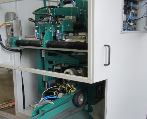 Belt grinding machine for the processing of flanks on screw conveyors (BSM VFF – 2000 H)